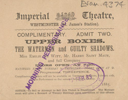 Ticket for the Imperial Theatre
